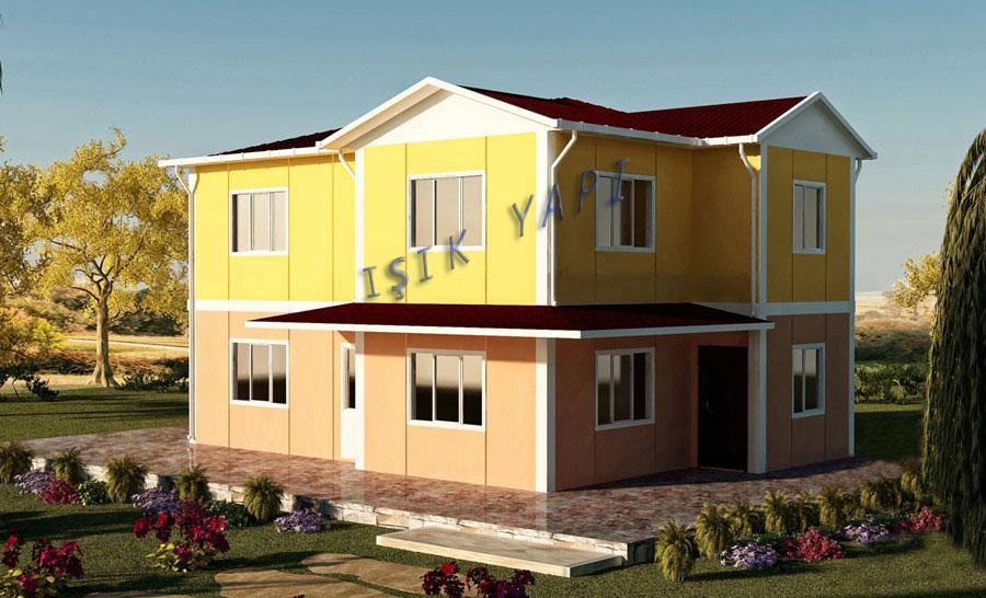 142 m2 İki Katlı Prefabrik